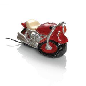 Booster Kunststein Tischlampe Motorrad  Rot