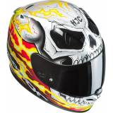 HJC FG-ST Ghost Rider Helm 2XL Schwarz Weiss Rot