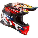 KYT Skyhawk Temper Motocross Helm M Rot