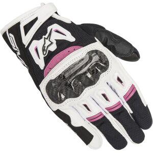 Alpinestars Stella SMX-2 Air Carbon V2 Damen Handschuhe Schwarz Weiss Lila XS