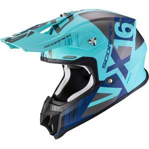 Scorpion VX-16 Air Mach Motocross Helm Türkis XS