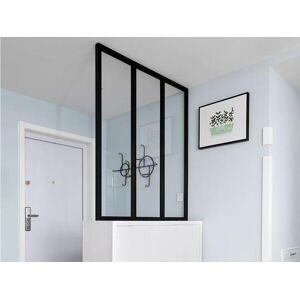 Vente-unique.ch Atelier Glaswand Aluminium BAYVIEW - 90x130cm - Schwarz
