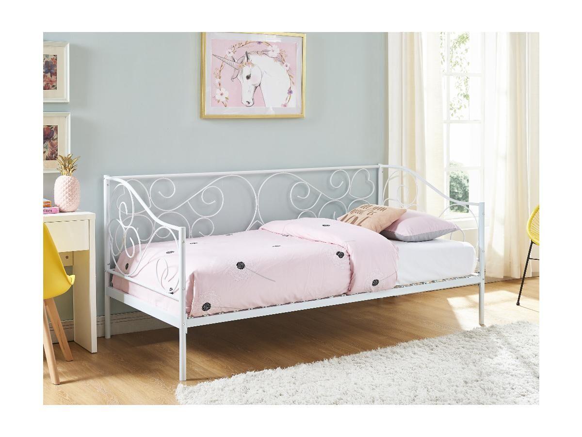 Vente-unique.com Kinderbett VIVAN - 90x200cm - Weiß
