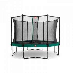 Berg Gartentrampolin Champion inkl. Sicherheitsnetz Comfort 330 cm grün