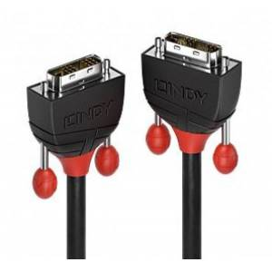 Lindy 36259 - DVI-D Single Link Kabel Black Line - 10m