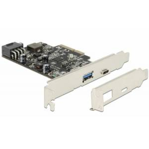 DeLock 89606 - PCI Express x4 Karte  1 x extern USB Type-C BU mit PD Funktion + 1 x extern USB 3.1 Typ-A BU