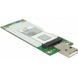 DeLock 63446 - Konverter USB 2.0 Typ-A Stecker  M.2 Key B mit SIM Slot
