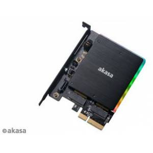 Akasa M.2 PCI-E SATA RGB LED Adapter Karte