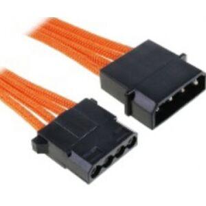 BitFenix Molex Verlängerung 45cm - sleeved orange/black