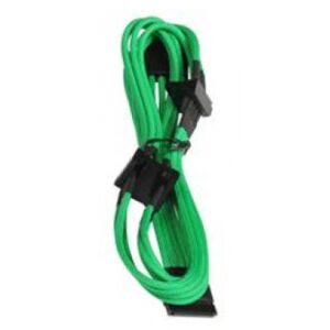 BitFenix Molex zu 4x SATA Adapter 20 cm - sleeved green/black