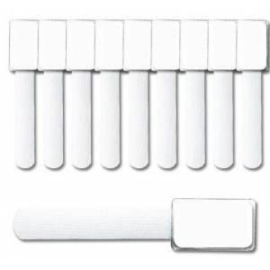 LABEL THE CABLE Mini Klettbinder 10er Set - white