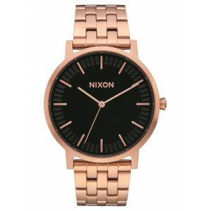 Nixon Armbanduhr 'Porter' (Gehäusedurchmesser: 40mm) bronze / gold / schwarz One Size