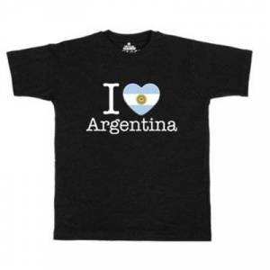 geschenkidee.ch Ländershirt Argentinien, Schwarz, L, Mann