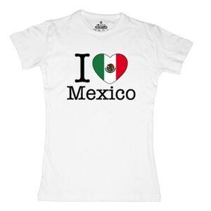 geschenkidee.ch Ländershirt Mexiko, Weiss, S, Frau