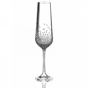Bohemian Grace Sekt-/Champagnerglas Bohemian Grace Swarovski Kristalle 200ml 2-er Set Gaia