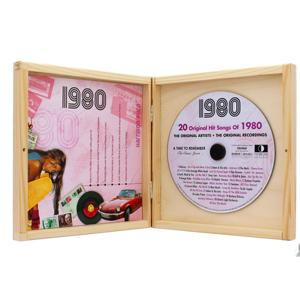 geschenkidee.ch Personalisierbare Jahrgangs Musik-CD 1980