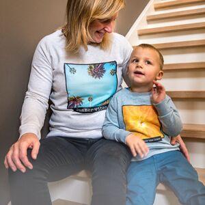 smartphoto Kinder Sweatshirt mit Foto Blau meliert 12 bis 14 Jahre