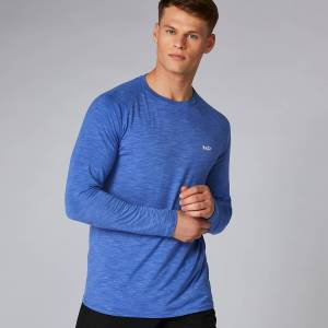 Myprotein Performance tričko s dlouhým rukávem - Ultra modrý melír - XS