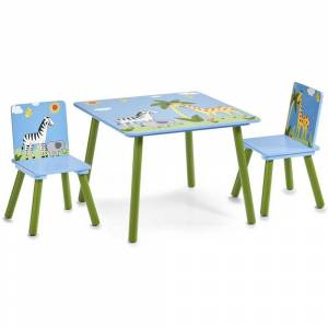 ZELLER Dětský stolek SAFARI + 2 židličky, ZELLER