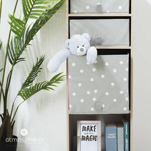 Atmosphera for kids Úložný box, krabička na hračky, dětský úložný box, box na hračky, šedá