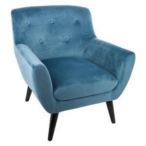 Atmosphera Velurové křeslo s pěnovým sedadlemv barvě tyrkysové EOLE