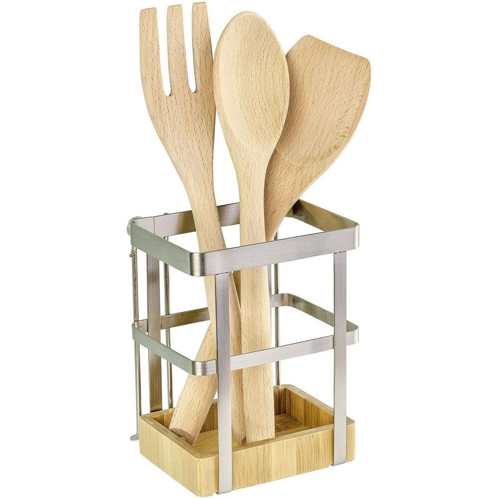 bd94bcc89746 WENKO Držák na kuchyňské náčiní Bamboo Premium