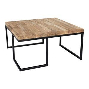 Kapelańczyk Kovový stůl s dřevěnou deskou Loft -