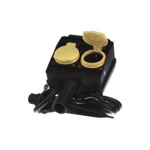 394.180  - Socket outlet strip black 394.180