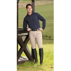 Happy-Horse-Riding-Equipment Men's riding breeches with pleats Tunis  beige
