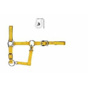 Happy-Horse-Riding-Equipment Solid coloured Halters bright yellow
