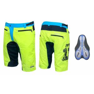 Force MTB-11 Shorts With Gel Pad Neon/Blue