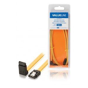 Valueline SATA 6Gb/s data cable SATA 7-pin female with lock - SATA 7-pin female with lock 270 degrees angled 1.00 m yellow