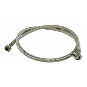 HQ Inlet hose RVS 3/4´´ hooked - 3/4´´ straight 1.50 m