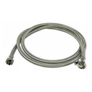 HQ Inlet hose RVS 3/4´´ hooked - 3/4´´ straight 2.00 m