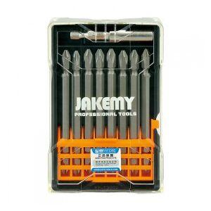 Jakemy JM-TP025 Screwdriver Bit-Set, Phillips-Tip 100 mm, 9 Parts