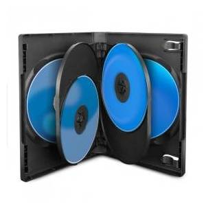 MediaRange DVD cases for 6 discs, 22 mm, Black, 15-pack