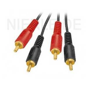 Cable Cinch (RCA) Standard 2.5 m - gold plated