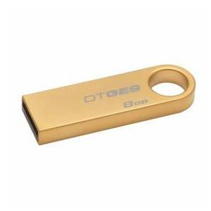 Kingston DataTraveler GE9 USB Stick, 8 GB, USB 2.0, Metal, Gold