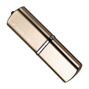 Silicon Power LuxMini 720 USB Stick, 8 GB, USB 2.0, Bronze