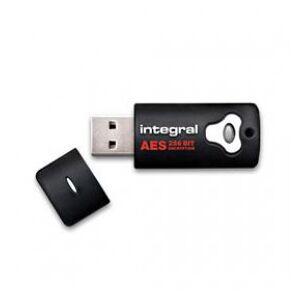 Integral Crypto Drive USB Stick, 4 GB, USB 2.0, 256-bit AES Encryption, Black