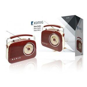 König Retro design AM/FM radio brown