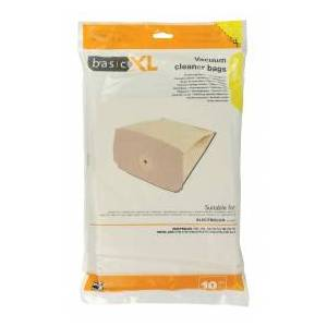 basicXL Vacuum cleaner paper bag Electrolux Lux Royal, 10-pack