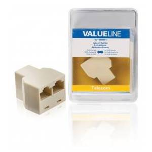 Valueline Network splitter RJ45 female - 2x RJ45 female ivory