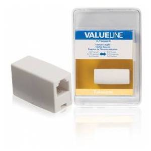Valueline Telecom coupler RJ11 female - RJ11 female white
