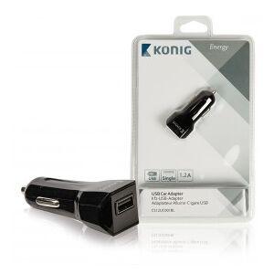 König Universal USB car adapter 1.2 A
