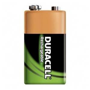 Duracell NiMH rechargeable accu, 170 mAh, 9 V, E-Block, HR9V