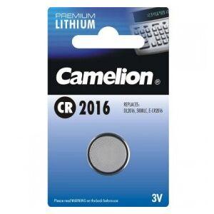 Camelion Lithium Button Cell, CR2016 / DL2016 / 5000LC / E-CR2016 / E-CR2016 / SB-T11 / 280-206, 3V - 1 pieces