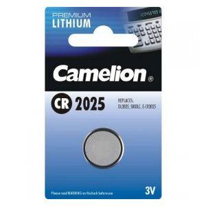 Camelion Lithium Button Cell, CR2025 / DL2025 / 5003LC / E-CR2025 / SB-T14 / 280-205, 3V - 1 pieces