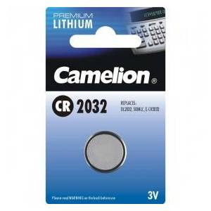 Camelion Lithium Button Cell, CR2032 / DL2032 / 5004LC / E-CR2032, 3V - 1 piece