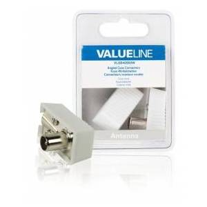 Valueline Coaxial (male) Plug (male), Angled, 2-pack